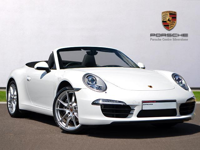 14(60) Porsche 911 Carrera Cabriolet, White/Black Leather Interior, 5009 miles